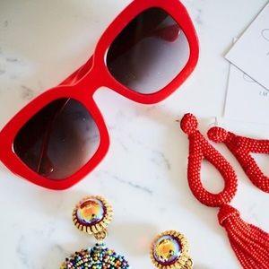 Alice + Olivia Aberdeen Red Poppy Sunglasses